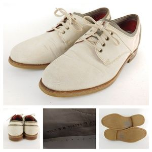 Cole Haan Canvas Oxford Beige Tan Dress Casual 9 M